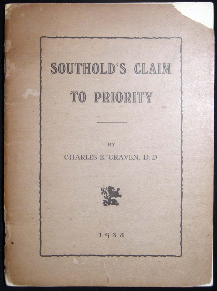 Southold's Claim to Priority. Charles E. Craven, D. D.
