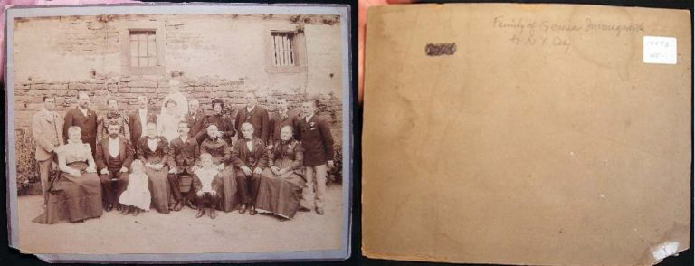 Large Cabinet Photo Identified on Back of Mount as Family of German Immigrants to N.Y. City. German Immigration.