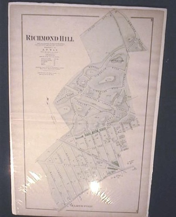 Original Map of Richmond Hill Long Island. Beers Atlas.