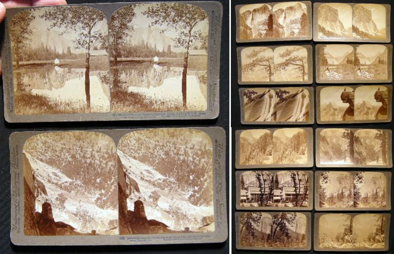 Collection of 14 Yosemite Valley Stereo Views. Yosemite Valley.
