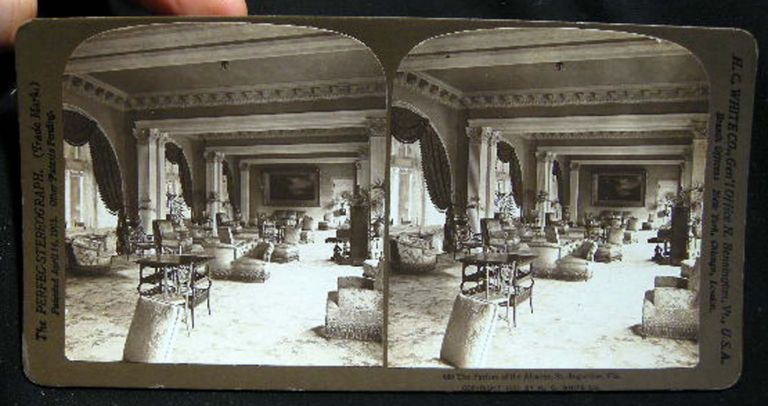 Stereo View of The Parlors of the Alcazar, St. Augustine, Fla. St. Augustine.