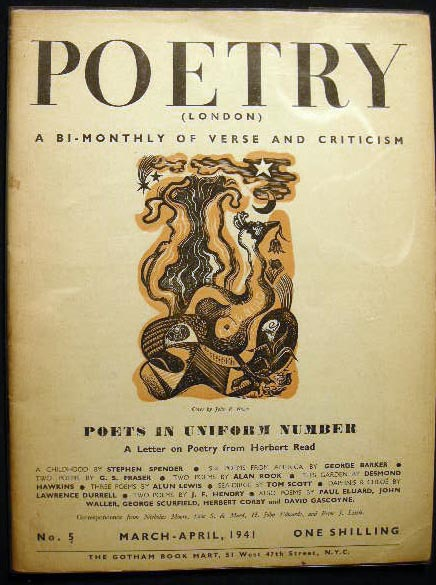 Poetry (London) A Bi-Monthly of Modern Verse and Criticism No. 5 March-April, 1941: Poets in Uniform Number. Poetry.