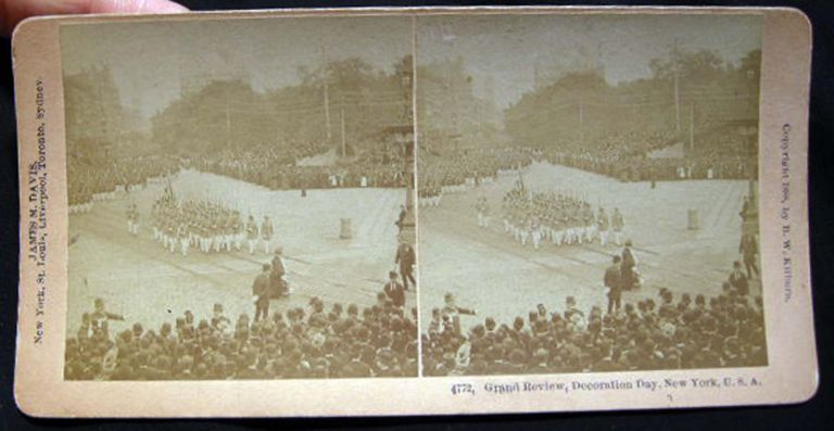 Photographic Stereoview of Grand Review, Decoration Day, New York, U.S.A. New York City.