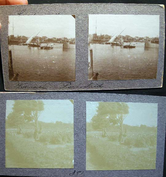Double - Sided Stereoview of Port Said. Port Said.