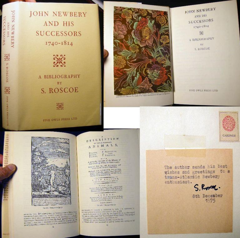 John Newbery and His Successors 1740-1814 A Bibliography. S. Roscoe.