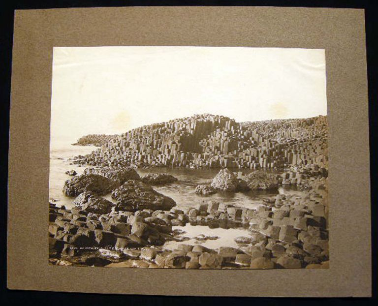 19th Century Gravure View of Giants Causeway. England.
