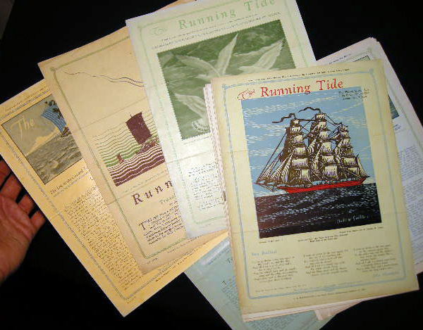 Collection of 12 Issues of Rising Tide the Log of the Cunard Travel Club 1929-1932. Cunard Steamship Line.