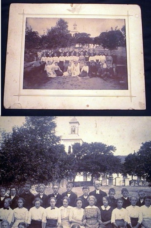 Cabinet Card Photograph of Church School Probably New England. New England.