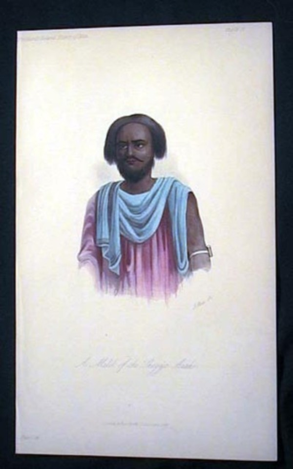 Hand-Colored Lithograph of a Melik of the Shegya Arabs. Shegya.