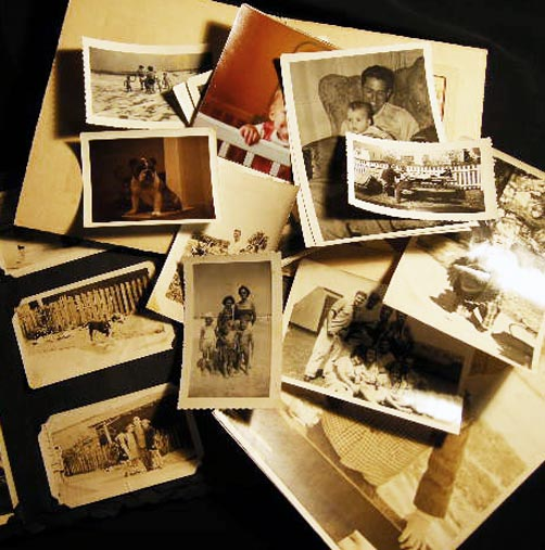 Circa WWII Collection of about 55 Snapshots and Larger Portraits of an American Family & their Activities. 16249, Americana - Photography - World War II.