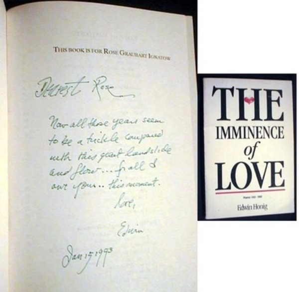 The Imminence of Love Poems 1962-1992. Edwin Honig.