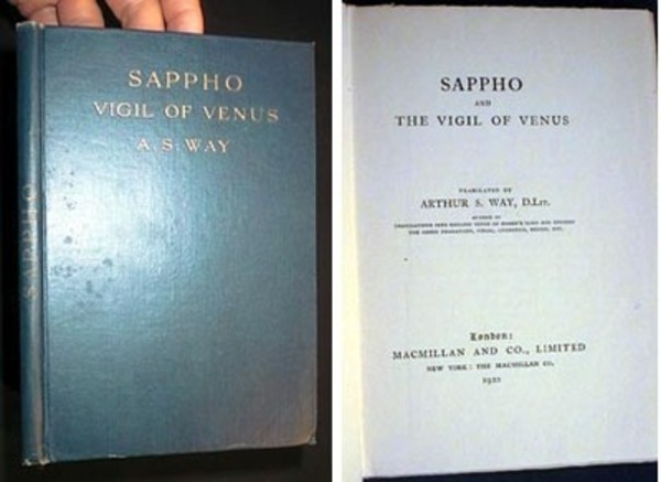 Sappho and the Vigil of Venus. A. S. Way.