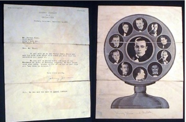 """Illustrated Letter Signed from Johnny Johnson and His Orchestra Denver, Colorado, December 8, 1930 to Herman Toor """"13"""" Club 1775-81st St., Brooklyn, N.Y. Big Band History."""