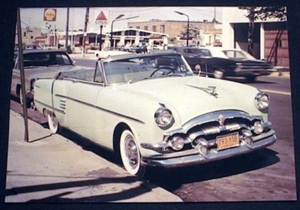 C. 1960s Photograph of Packard Convertible 1956 at 65th Streeet Near 7th Avenue Brooklyn New York. Brooklyn.