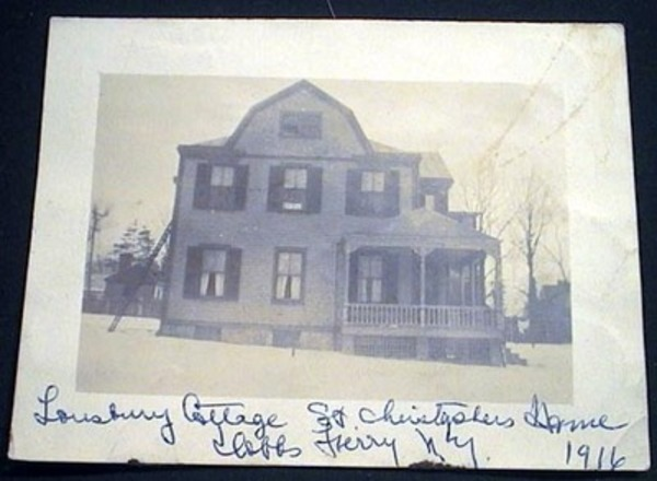 Photograph of Lansbury Cottage St. Christopher Home Dobbs Ferry N.Y. 1916. Dobbs Ferry.