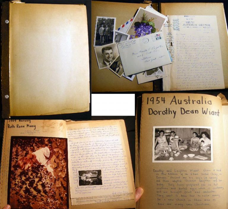 Album of Manuscript Memorabilia and Letters from the International Four-H Club Exchange Program. Four-H Club.