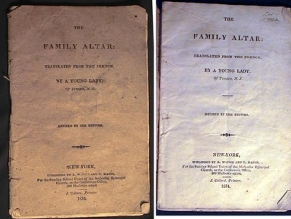 The Family Altar: Translated from the Fench, By a Young Lady, of Trenton, N.J. Revised by the Editors. Children's Book.