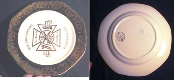 Sabin Crest-O-Gold Commemorative Plate for the 50th Anniversary Ever Ready Eng.Co. 3 1920 1970 Riverhead, N.Y. Riverhead.