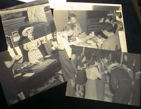 C. 1930s Group of Large Format Photographs of a Party with Costumes and Gambling. Photography.