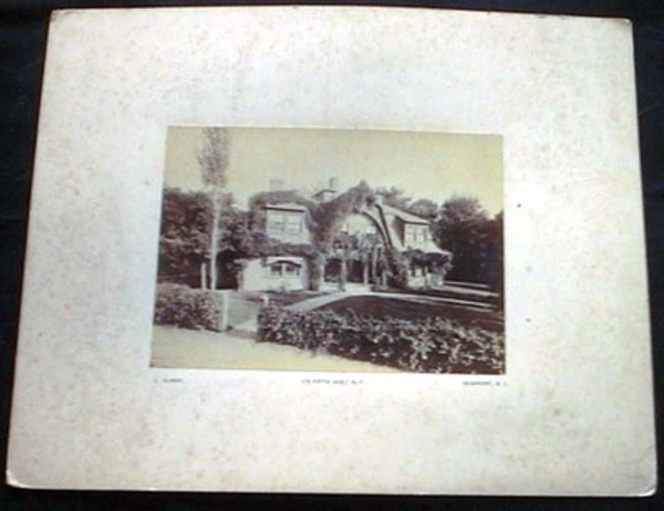 C. 1880 Cabinet Card of the Waring Home in Newport Rhode Island (?) By Photographer Identified as L. Alman, 172 Fifth Ave. N.Y. Newport, R.I. Newport.