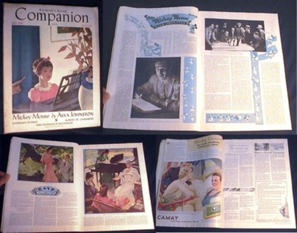 Woman's Home Companion July 1934 Vol. LXI No. 7 Feature Article Mickey Mouse By Alva Johnston. Woman's Home Companion.