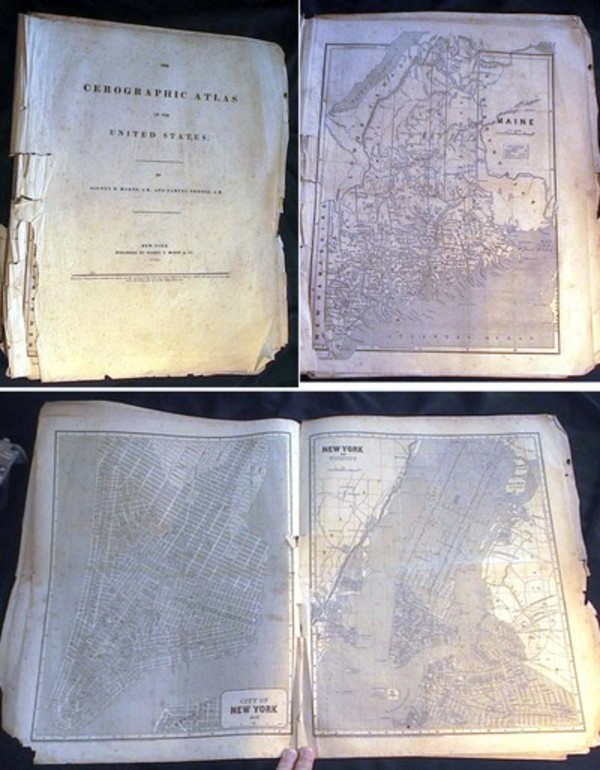 The Cerographic Atlas of the United States. Sidney Morse, Samuel Breese.