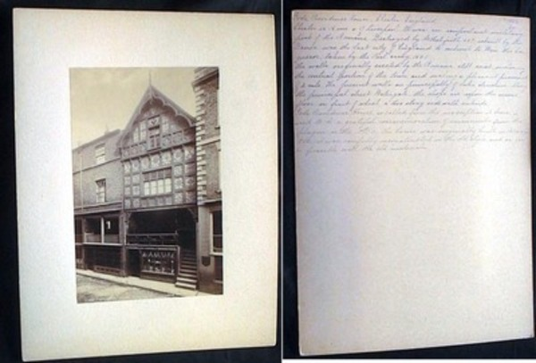 C 1880 Large Format Photograph of God's Providence House Chester 14706 By JW. Chester England.