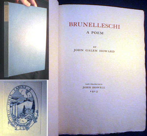 Brunelleschi A Poem. John Galen Howard.