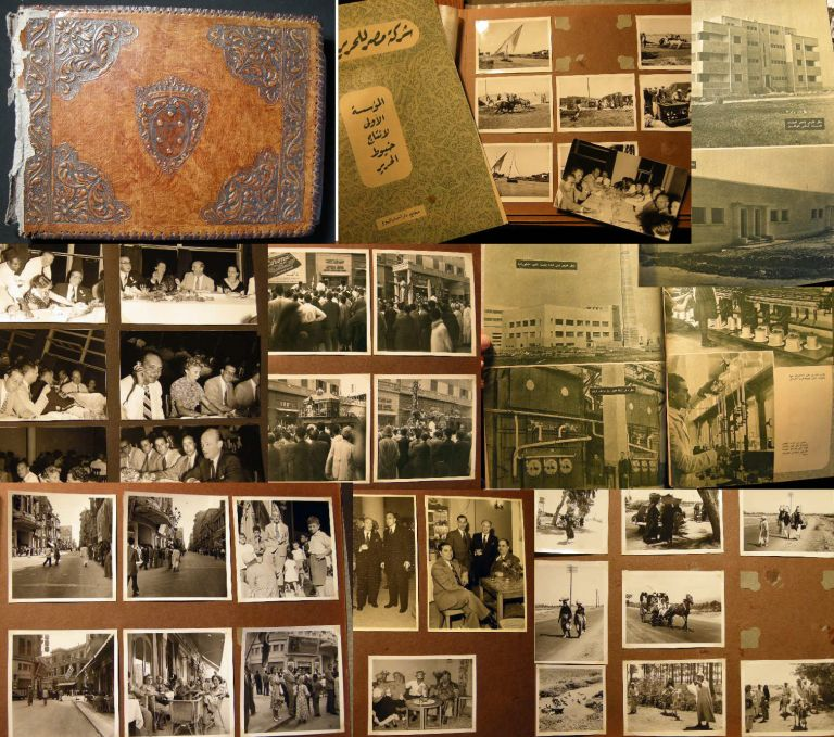 C. 1951-1954 Photographic Album Recording the Building of a Western-Engineered Milling Facility in Egypt With Many Pictures Identified and Depicting Social, Sporting, Political Activities in Cairo and Alexandria Egypt During the Nasser Era. Photography in Egypt.