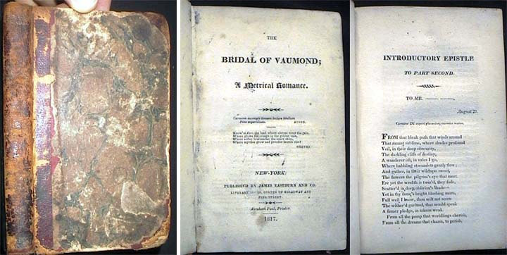 The Bridal of Vaumond; A Metrical Romance. Robert Charles Sands.