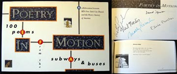Poetry in Motion 100 Poems from the Subways and Buses. Molly Peacock.