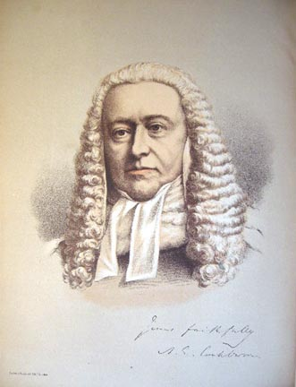 1890 Colour Lithograph Portrait of Lord Chief Justice Cockburn. Lord Chief Justice Cockburn.