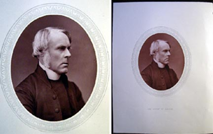 1876 Woodburytype of Right Rev. John Jackson, D.D., Lord Bishop of London. D. D. Right Rev. John Jackson.