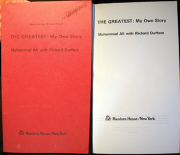 The Greatest: My Own Story Uncorrected First Proof. Muhammad Ali, Richard Durham.