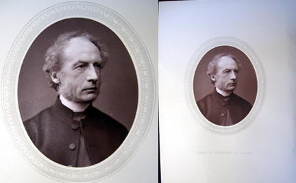 1876 Woodburytype of Right Rev. Charles J. Ellicott, D.D. Lord Bishop of Gloucester and Bristol. D. D. Right Rev. Charles J. Ellicott.
