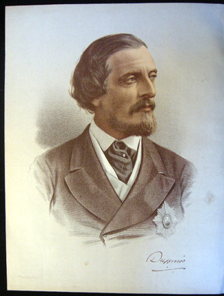 1890 Colour Lithograph Portrait of The Earl of Dufferin. Earl of Dufferin.