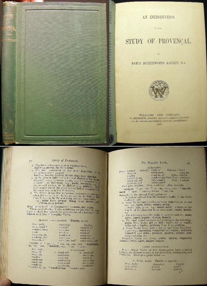 An Introduction to the Study of Provencal. Darcy Butterworth Kitchin.