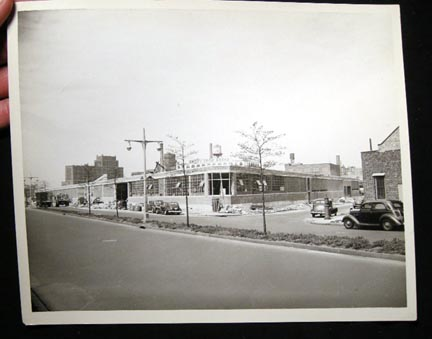 May 6, 1946 Large Format Photograph Port Morris Bronx New York City of the S.W. Farber, Inc. Industrial Building, Bruckner Boulevard. New York City.