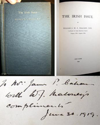 The Irish Issue. William J. M. A. M. D. Maloney.