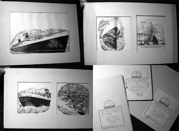 Original Illustrations for the Book Superliner S.S. United States Written and Illustrated By Henry Billings. Henry Billings.
