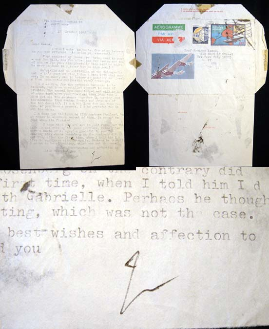 1982 Typed Letter Signed By Italian Architectural Author Bruno Zevi. Bruno Zevi.