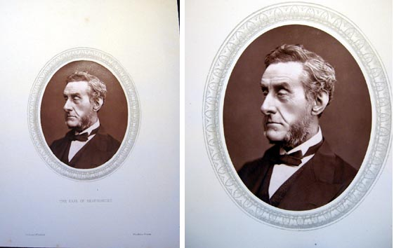 1876 Woodburytype of The Right Hon. The Earl of Shaftesbury, K.G. Earl of Shaftesbury.