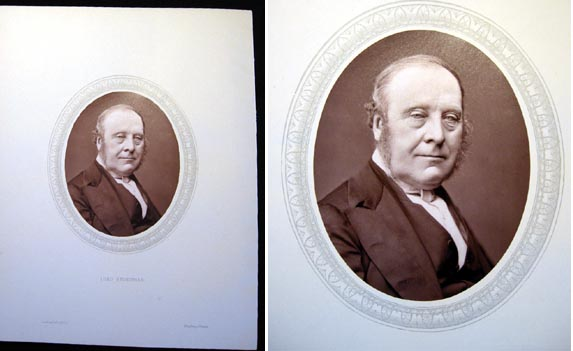 1876 Woodburytype of The Right Hon. Lord Redesdale, Chairman of Committes of the House of Lords. Lord Redesdale.