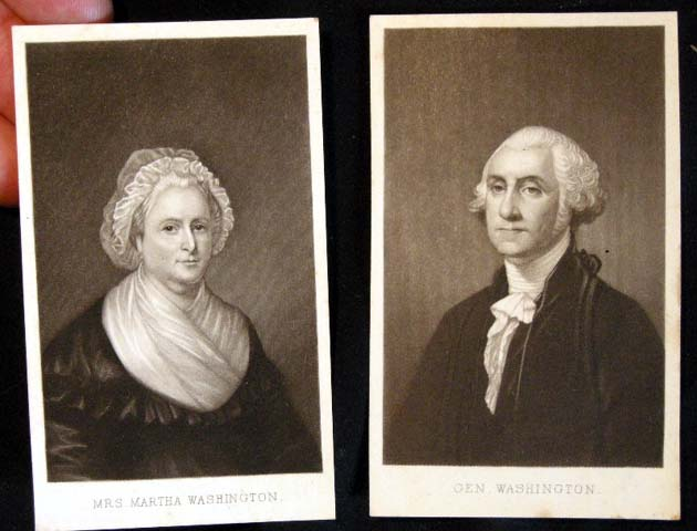 C. 1885 Cartes-De-Visite of George & Martha Washington. George, Martha Washington.