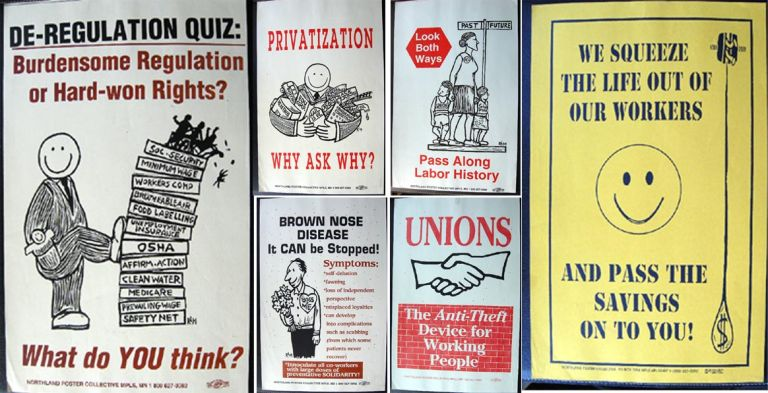 Collection of 6 Pro-Union Promotional Posters By Northland Poster Collective. Union Posters.