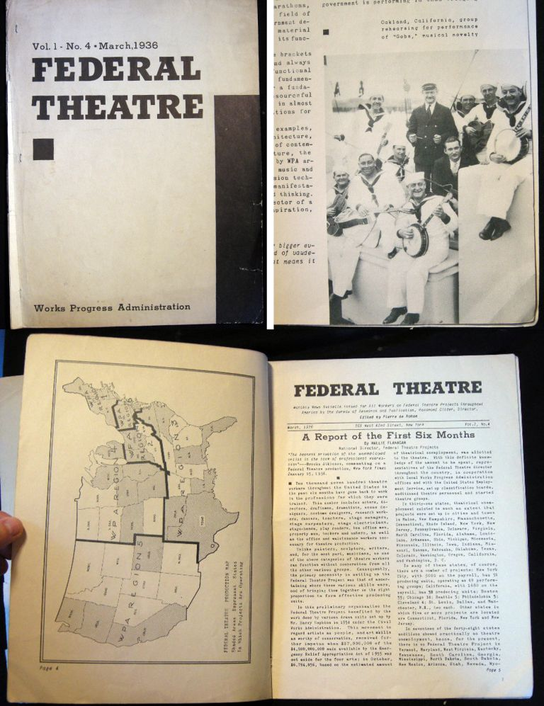 Federal Theatre Vol. 1 - No. 4 - March, 1936. WPA.