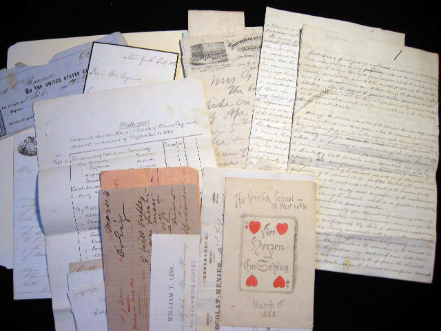 C. 1864-1895 Collection of Handwritten & Printed Ephemera Relating to the Career of Doctor John Francis Gignoux of New York & New Jersey and his Family. Manuscript Correspondence.