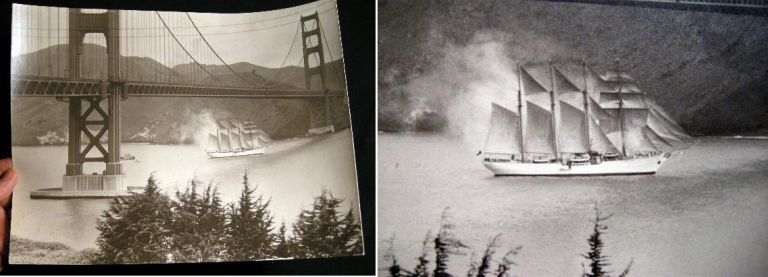 C. 1960 Large-format black and White Photograph of the Golden Gate Bridge San Francisco California. San Francisco.