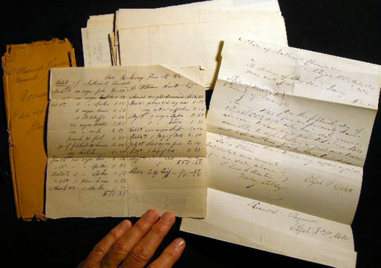 1856-1868 Legal Documents for the James & Israel Wright and Nathaniel Pearsall Families of Hempstead, Rockaway and Rockville Centre Long Island New York. Manuscript Americana - Law.
