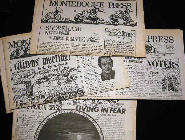 1971-72 Moniebogue Press Alternative Press People's Newspaper. Americana - Alternative Newspaper.